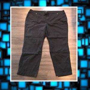 LB Venezia Black Cotton Khaki Pants